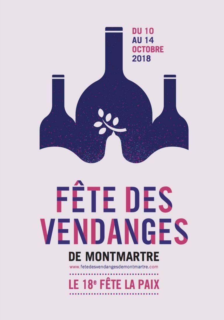 Affiche Fête des Vendanges de Montmartre 2018