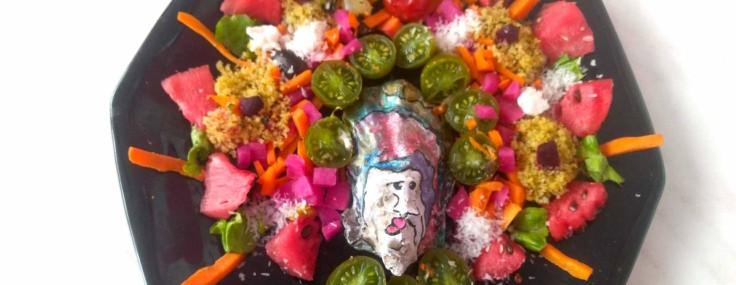 Assiette de couleurs – menus multicolores